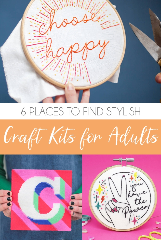 Contemporary craft kits for adults