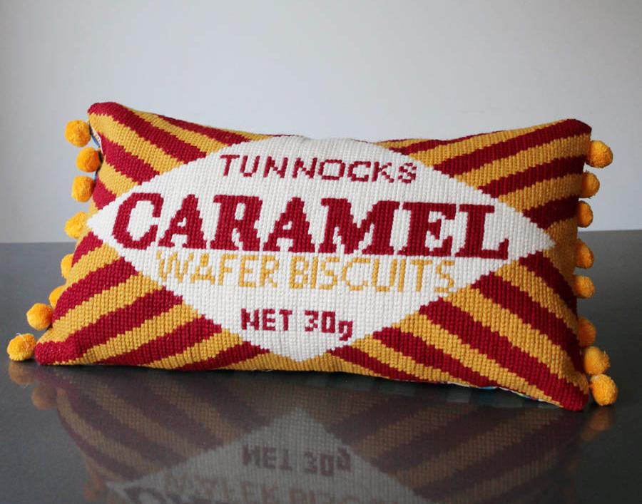 Caramel Wafer Bar Cross Stich Cushion Kit