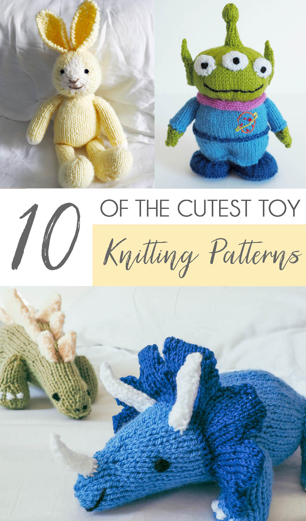 10 Adorable Toy Knitting Patterns