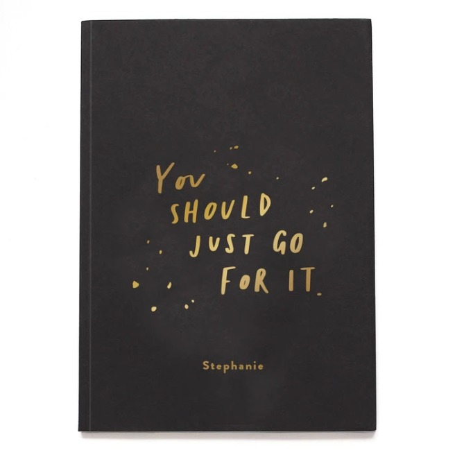 You Should Just Go For It notebook