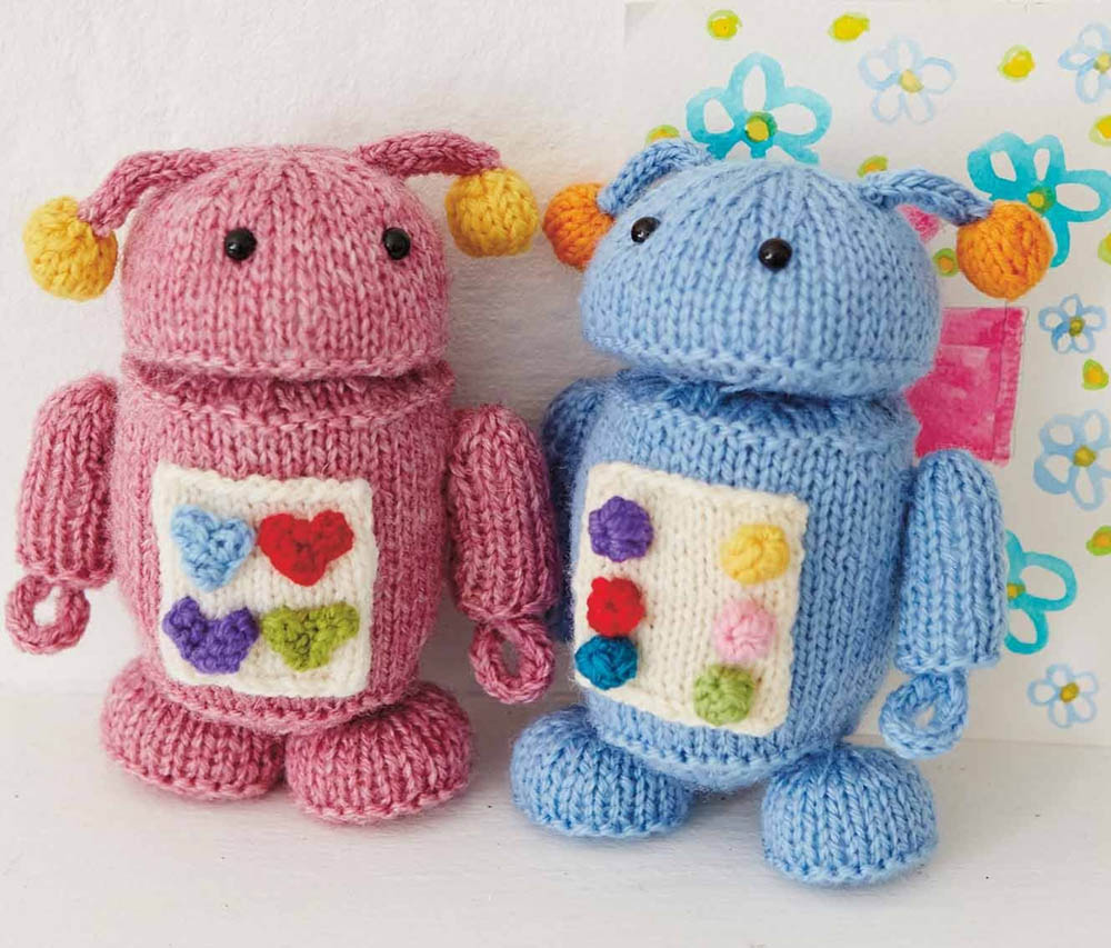 Knitted Robot Toys