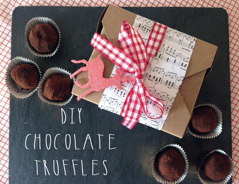 DIY Christmas Chocolate Truffles