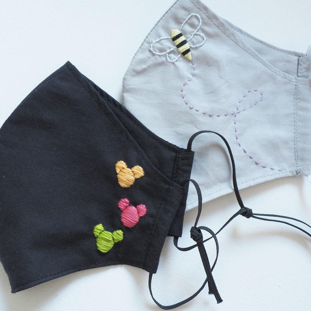 DIY embroidered face masks