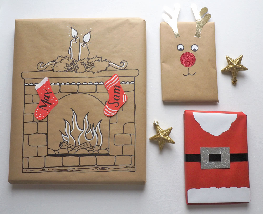 Crafty gift wrap with brown paper