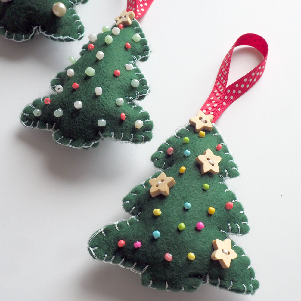 DIY Felt Christmas Tree Decoration